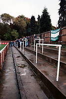 Terracing at Chesham United FC Football Ground pictured on 22nd October 1994