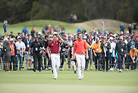 Thomas Detry (BEL) Thomas Pieters (BEL) during the final round of the World Cup of golf,  The Metropolitan Golf Club, The Metropolitan Golf Club, Victoria, Australia. 25/11/2018<br /> Picture: Golffile | Anthony Powter<br /> <br /> <br /> All photo usage must carry mandatory copyright credit (&copy; Golffile | Anthony Powter)