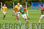 Noel Kennelly (Feale Rangers) in action with                (Mid Kerry) in the Coiste Chontae Chiarraí, Garvey's Super Valu,,2014 County Senior Football Championship -Round 3 at Ballylongford GAA grounds on Sunday.
