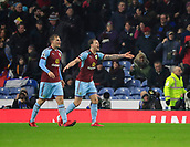 9th December 2017, Turf Moor, Burnley, England; EPL Premier League football, Burnley versus Watford; Ashley Barnes of Burnley goes to protest as his goal is disallowed