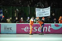 SCHAATSEN: BOEDAPEST: Essent ISU European Championships, 08-01-2012,  Gerard Kemkers, Sven Kramer NED na afloop van de 10000m, ©foto Martin de Jong