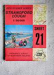 Discoverer series 1:50,000 ordnance survey map of Strangford Lough, Northern Ireland sheet 21