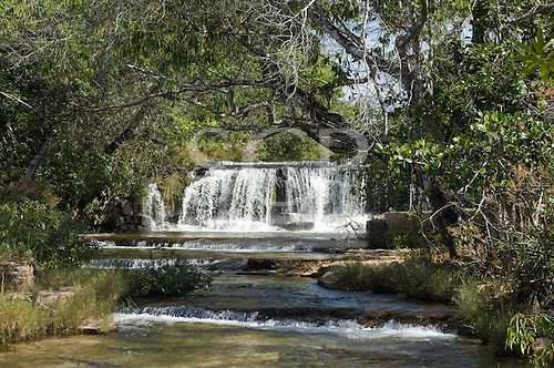 Mato Grosso, Brazil. Near Canarana, Crystal waterfall.