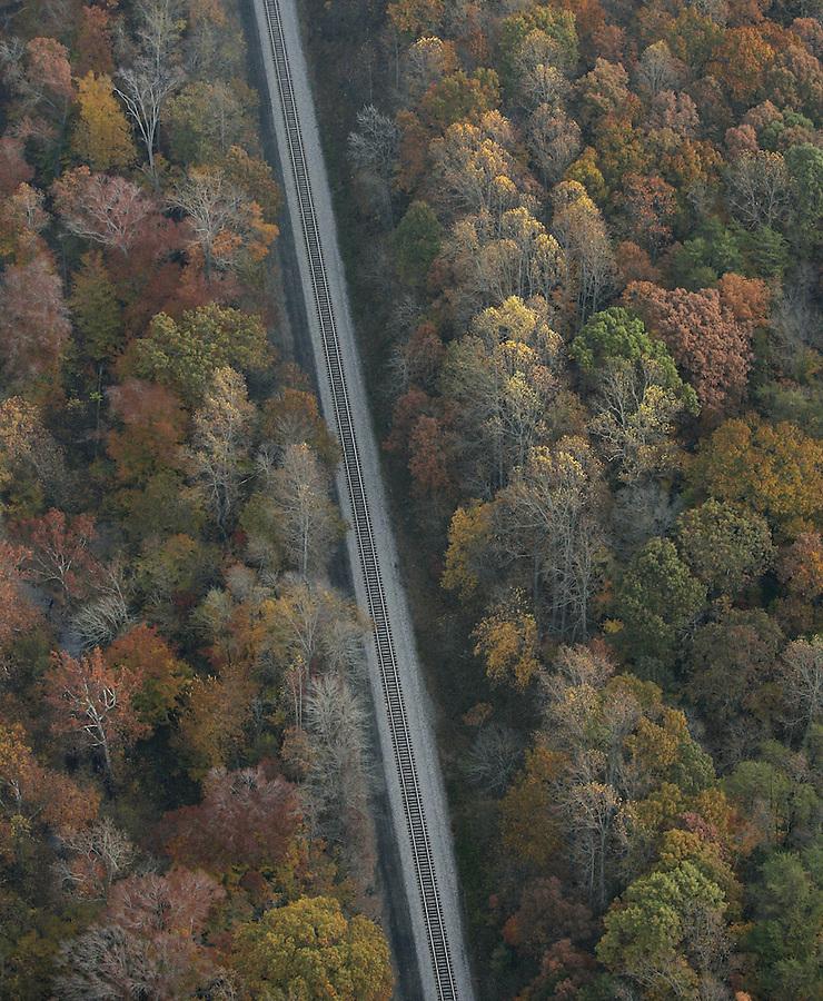 fall colors, train track, transportation