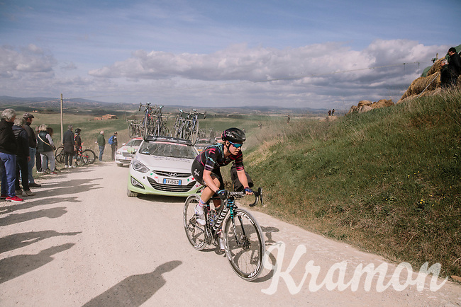 Tiffany Cromwell (AUS/Canyon-SRAM)<br /> <br /> 5th Strade Bianche WE (1.WWT)<br /> One day race from Siena to Siena (136km)<br /> <br /> ©JojoHarper for kramon