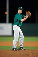 Siena Saints starting pitcher Tom Miller (42) gets ready to deliver a pitch during a game against the Stetson Hatters on February 23, 2016 at Melching Field at Conrad Park in DeLand, Florida.  Stetson defeated Siena 5-3.  (Mike Janes/Four Seam Images)