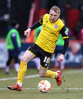 Nicky Adams of Northampton Town during the Sky Bet League 2 match between Stevenage and Northampton Town at the Lamex Stadium, Stevenage, England on 19 March 2016. Photo by David Horn / PRiME Media Images.