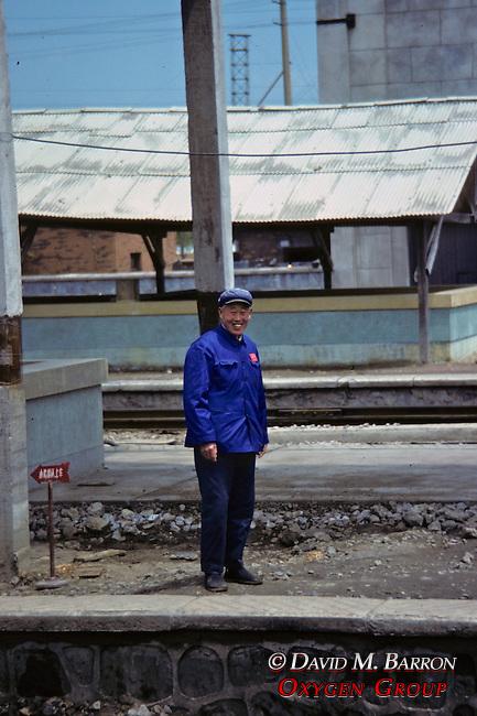 Man At Railroad