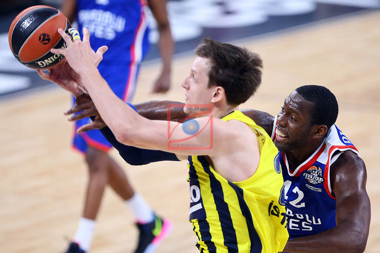 Turkish Airlines Euroleague.<br /> Final Four - Vitoria-Gasteiz 2019.<br /> Semifinals.<br /> Fenerbahce Beko Istanbul vs Anadolu Efes Istanbul: 73-92.<br /> Jan Vesely vs Bryant Dunston.
