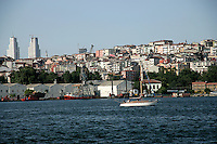 The northern shore of the Golden Horn, Istanbul, Turkey