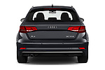 Straight rear view of a 2019 Audi A3 Sportsportback Sport 5 Door Hatchback stock images