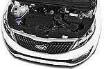 Car Stock 2014 KIA SPORTAGE Sense 5 Door SUV 2WD Engine high angle detail view