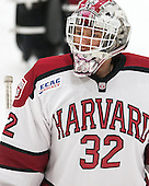 Peter Traber (Harvard - 32) - The Harvard University Crimson defeated the Brown University Bears 4-3 to sweep their first round match up in the ECAC playoffs on Saturday, March 7, 2015, at Bright-Landry Hockey Center in Cambridge, Massachusetts.