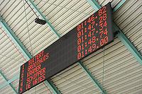 SCHAATSEN: HEERENVEEN: IJsstadion Thialf, 02-01-2013, Seizoen 2012-2013, Selectiewedstrijd 1500m Heren, scorebord, einduitslag, ©foto Martin de Jong