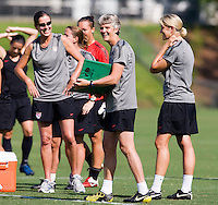 Pia Sundhage, staff. The USWNT practice at WakeMed Soccer Park in preparation for their game with Japan.