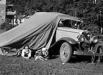 Wilkinsburg PA:  Brady Jr., Helen and Pepe testing out the camping gear before taking off for Youghiogheny Lake for the week - 1931.