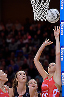 England's Joanne Harten in action during the International Netball - NZ Silver Ferns v England Roses at Te Rauparaha Arena, Porirua, New Zealand on Thursday 7 September 2017.<br /> Photo by Masanori Udagawa. <br /> www.photowellington.photoshelter.com