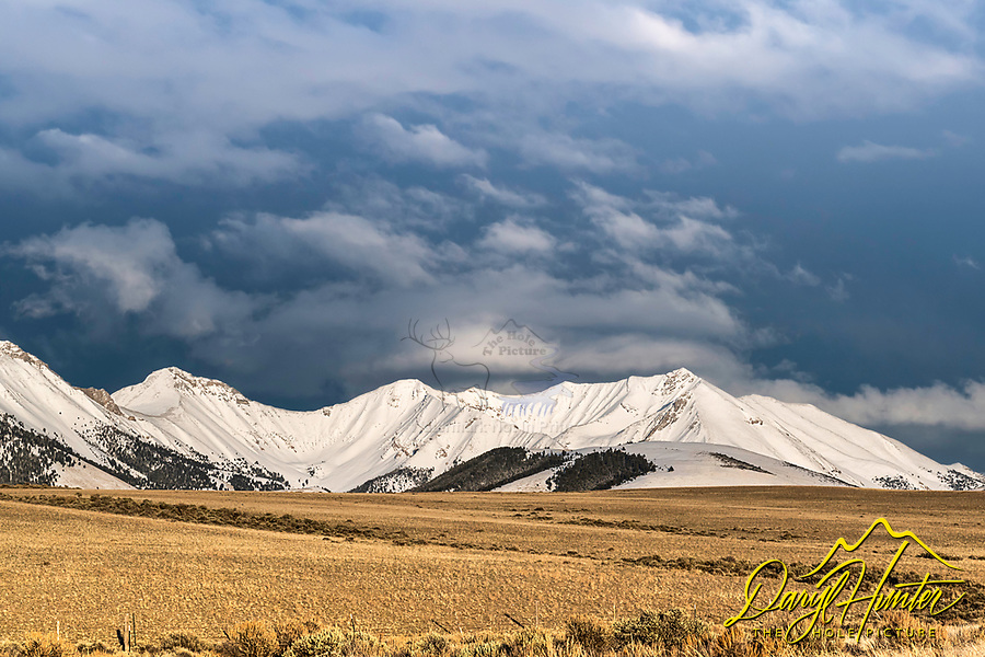 A beautiful spring evening at the at the Pahsimeroi Mountains near Challis Idaho