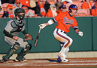 Wilson Boyd (12) hits during a game between the Charlotte 49ers and Clemson Tigers Feb. 20, 2009, at Doug Kingsmore Stadium in Clemson, S.C. (Photo by: Tom Priddy/Four Seam Images)