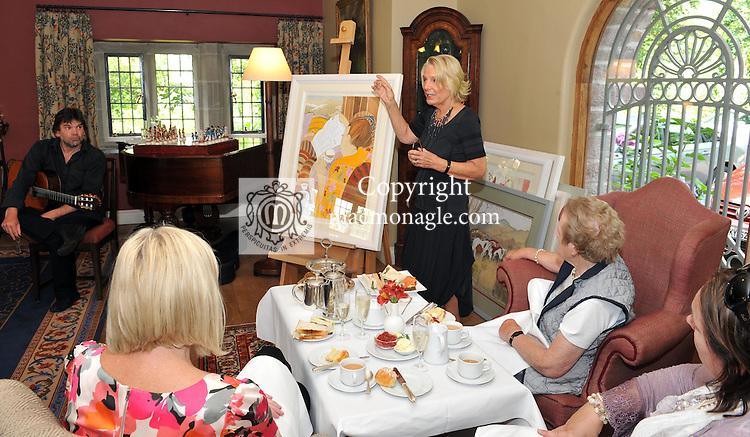 Artist Pauline Bewick discusses her work at the Ard na Sidhe Manor House afternoon tea and culture with   overlooking Caragh Lake..Picture by Don MacMonagle..PR photo: Ard na SIdhe:.Further info: Joanne Byrne / Presence PR 353 1 676 1062