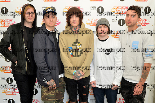 BRING ME THE HORIZON - photocall at the Radio 1 Big Weekend at Powderham Castle Exeter Devon UK - 28 May 2016.  Photo credit: George Chin/IconicPix