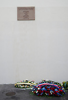 January 7 2018, PARIS FRANCE<br /> Commemorative Ceremony of the 7 january<br /> 2015 terrorist attacks against Charlie Hebdo newspaper in Paris. A Memorial Plaque is put in Memory of the victims. # CEREMONIES D'HOMMAGE AUX VICTIMES DES ATTENTATS DE CHARLIE HEBDO ET DE L'HYPER CACHER