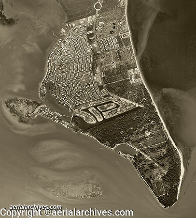 aerial photograph Key Biscayne, Florida