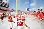 22 September 2007: NC State players take the field. The Clemson University Tigers defeated the North Carolina State University Wolfpack 42-20 at Carter-Finley Stadium in Raleigh, North Carolina in an Atlantic Coast Conference NCAA College Football Division I game.