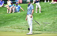 Bethesda, MD - July 2, 2017: Tyrone Van Aswegen reacts to a missed putt on hole seventeen during final round of professional play at the Quicken Loans National Tournament at TPC Potomac at Avenel Farm in Bethesda, MD.  (Photo by Phillip Peters/Media Images International)