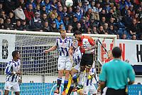 VOETBAL: HEERENVEEN: Abe Lenstra Stadion 18-10-2015, SC Heerenveen - Feyenoord, uitslag 2-5, Henk Veerman (#20) kop de bal weg, ©foto Martin de Jong