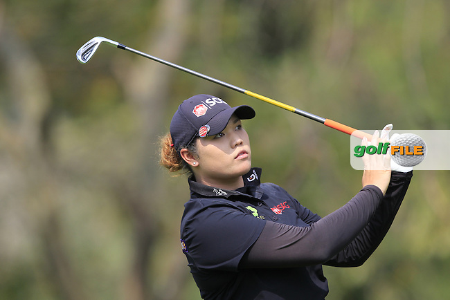 Ariya Jutanugarn (THA) on the 12th tee during Round 1 of the Honda LPGA Thailand on Thursday 23rd February 2017.<br /> Picture:  Thos Caffrey / Golffile