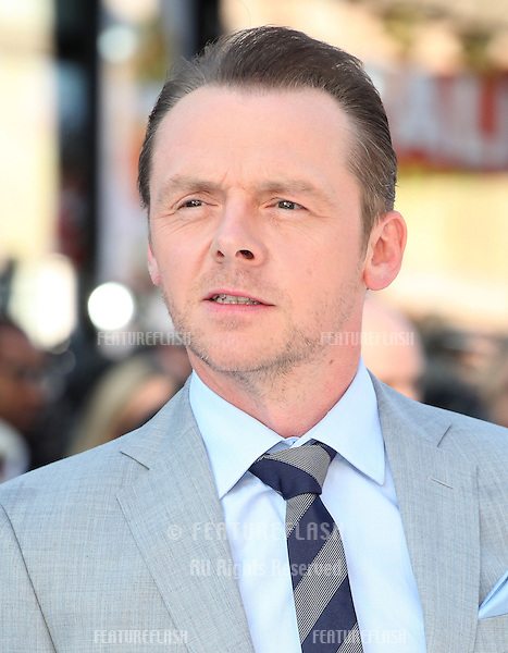 Simon Pegg arriving for the UK premiere of 'Star Trek Into Darkness' at The Empire Cinema, London. 02/05/2013 Picture by: Alexandra Glen / Featureflash