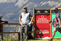 Andy Sullivan (ENG) on the 7th tee during Saturday's Round 3 of the 2018 Omega European Masters, held at the Golf Club Crans-Sur-Sierre, Crans Montana, Switzerland. 8th September 2018.<br /> Picture: Eoin Clarke | Golffile<br /> <br /> <br /> All photos usage must carry mandatory copyright credit (&copy; Golffile | Eoin Clarke)