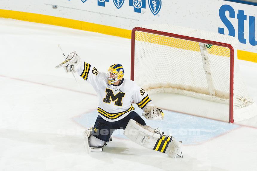 The University of Michigan men's hockey team beats Robert Morris,5-3, at Yost Ice Arena in Ann Arbor, Mich., on Oct. 30, 2015.