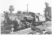 K-28 #478 with fake stack awaiting assignment.<br /> D&amp;RGW  Durango, CO