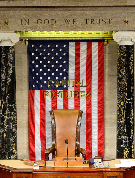 Stock photo of the empty Speakers Rostrum during the Opening Session of the 113th United States Congress in the U.S. Capitol in Washington, D.C. on Thursday, January 3, 2013.   .CAP/ADM/CNP.©Ron Sachs/CNP/AdMedia/Capital Pictures.