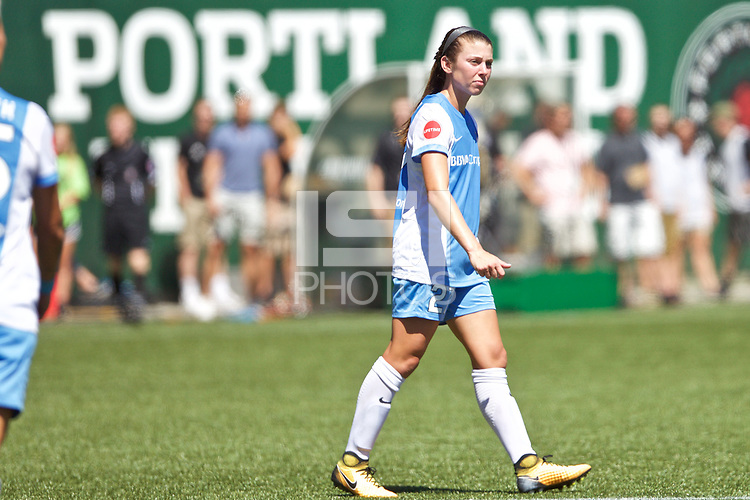 Portland, OR - Saturday August 05, 2017: Caity Heap during a regular season National Women's Soccer League (NWSL) match between the Portland Thorns FC and the Houston Dash at Providence Park.