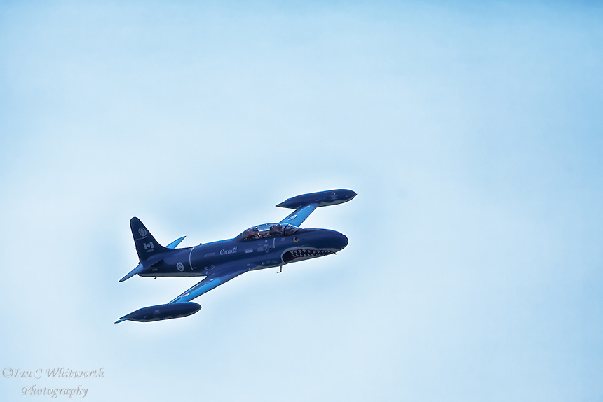 A view of theT-33 Silver Star Mako Shark at the Canadian International Air Show in Toronto.