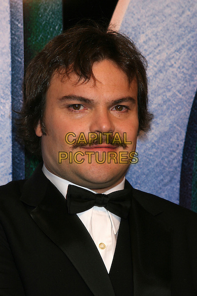 "JACK BLACK.Universal Pictures' ""King Kong"" New York City Premiere - Arrivals at Loews E-Walk & AMC Empire Cinemas, New York City..December 5th, 2005 .Ref: IW.headshot portrait bow tie mustache facial hair .www.capitalpictures.com.sales@capitalpictures.com.©Capital Pictures"
