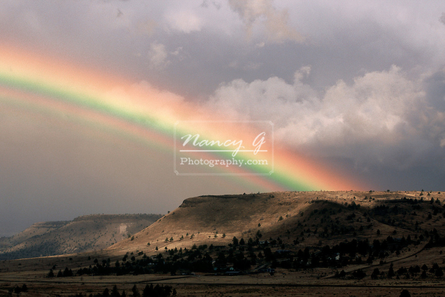 Rainbow over Kahneeta Indian Reservation, Oregon.