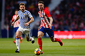2nd December 2017, Wanda Metropolitano, Madrid, Spain; La Liga football, Atletico Madrid versus Real Sociedad; Saul Niguez Esclapez (8) of Atletico Madrid and Asier Illarramendi (4) of Real Sociedad