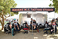 FX FEARLESS FORUM AT SAN DIEGO COMIC-CON© 2019: Behind the scenes during the MAYANS M.C. activation on Saturday, July 20 at SAN DIEGO COMIC-CON© 2019. CR: Frank Micelotta/FX/PictureGroup © 2019 FX Networks