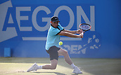 June 16th 2017, Nottingham, England; ATP Aegon Nottingham Open Tennis Tournament day 5;  Dudi Sela of Israel playing Lloyd Glasspool of Great Britain in the quarter final