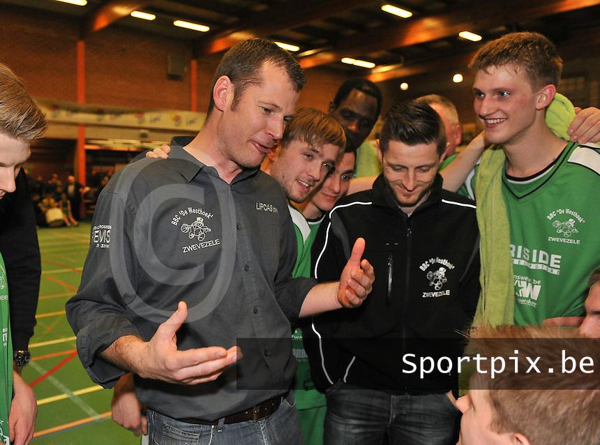 BBC De Westhoek Zwevezele : coach David Hamers.foto VDB  / Bart Vandenbroucke