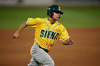 Siena Saints Yasser Santana (7) running the bases during a game against the UCF Knights on February 14, 2020 at John Euliano Park in Orlando, Florida.  UCF defeated Siena 2-1.  (Mike Janes/Four Seam Images)