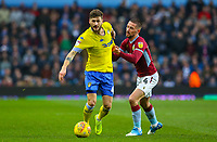 Leeds United's Mateusz Klich has his shirt pulled by Aston Villa's Conor Hourihane<br /> <br /> Photographer Alex Dodd/CameraSport<br /> <br /> The EFL Sky Bet Championship - Aston Villa v Leeds United - Sunday 23rd December 2018 - Villa Park - Birmingham<br /> <br /> World Copyright &copy; 2018 CameraSport. All rights reserved. 43 Linden Ave. Countesthorpe. Leicester. England. LE8 5PG - Tel: +44 (0) 116 277 4147 - admin@camerasport.com - www.camerasport.com