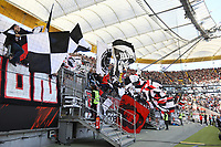 Fans von Eintracht Frankfurt - 30.09.2018: Eintracht Frankfurt vs. Hannover 96, Commerzbank Arena, DISCLAIMER: DFL regulations prohibit any use of photographs as image sequences and/or quasi-video.
