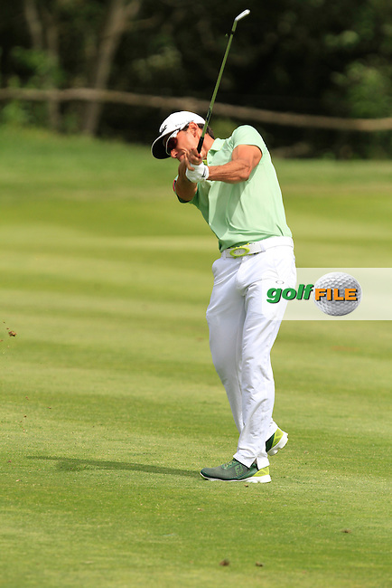 Rafa Cabrera-Bello (ESP) on the 9th during Round 1 of the Open de Espana  in Club de Golf el Prat, Barcelona on Thursday 14th May 2015.<br /> Picture:  Thos Caffrey / www.golffile.ie