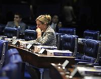 BRASILIA, DF, 05.02.2014 - RENAN CALHEIROS -A senadora Gleisi Hoffmann discursa no Senado Federal em Brasilia na tarde desta quarta-feira,05 (Foto Renato Araújo/Brazil Photo Press)