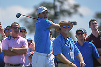 Jordan Spieth (USA) watches his tee shot on 3 during round 3 of the Houston Open, Golf Club of Houston, Houston, Texas. 3/31/2018.<br /> Picture: Golffile | Ken Murray<br /> <br /> <br /> All photo usage must carry mandatory copyright credit (&copy; Golffile | Ken Murray)